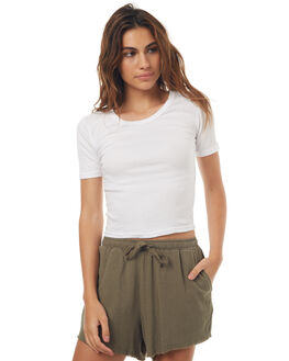 WHITE OUTLET WOMENS SWELL TEES - S8171001WHITE