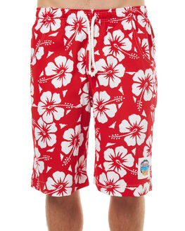 RED MENS CLOTHING OKANUI BOARDSHORTS - BOHBRD