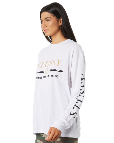 WHITE WOMENS CLOTHING STUSSY TEES - ST195011WHT