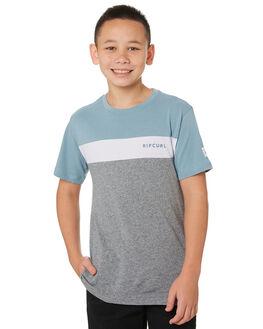 BLUE GREY KIDS BOYS RIP CURL TOPS - KTESG21005