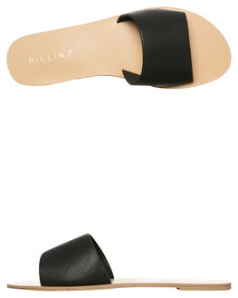 BLACK WOMENS FOOTWEAR BILLINI SLIDES - S452BLK