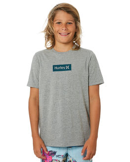 DARK GREY HEATHER KIDS BOYS HURLEY TOPS - BQ1476063