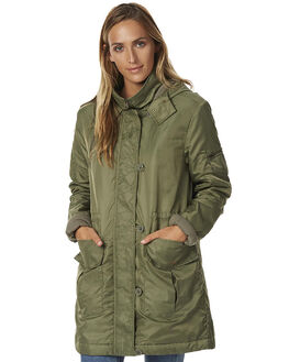 DUSTY OLIVE WOMENS CLOTHING BILLABONG JACKETS - 6576903DOL