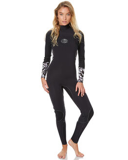 BLACK WHITE SURF WETSUITS RIP CURL STEAMERS - WSM6ES0431