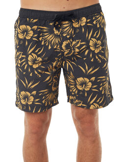 BLACK MENS CLOTHING SWELL BOARDSHORTS - S5171235BLK