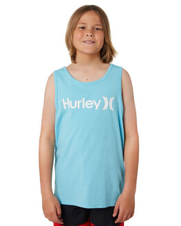 BLUE GAZE WHITE KIDS BOYS HURLEY TOPS - AR4112492