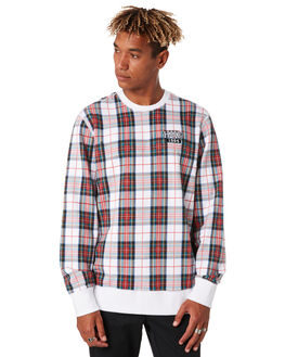 WHITE MENS CLOTHING HUF JUMPERS - FL00086-WHITE