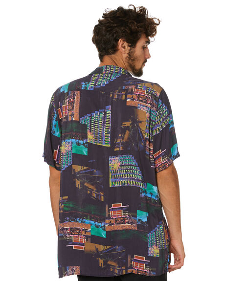 MIAMI NIGHT MENS CLOTHING BARNEY COOLS SHIRTS - 303-PEC1MNGHT