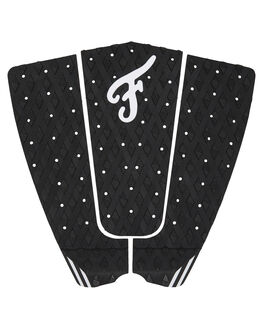 BLACK WHITE BOARDSPORTS SURF FAMOUS TAILPADS - FILL002BLKWH