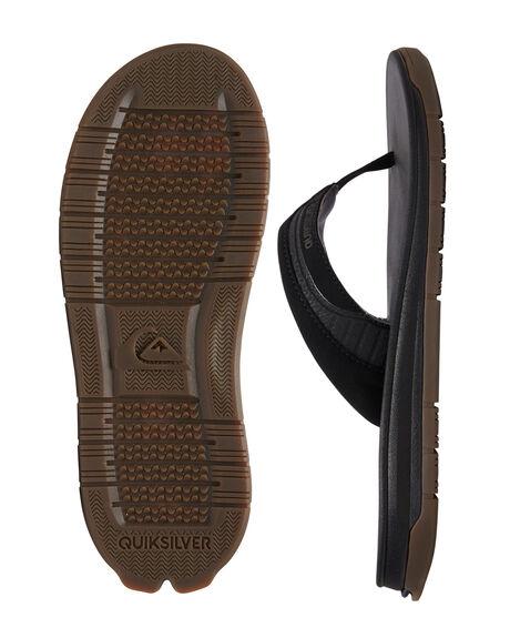 BLACK/BLACK/BROWN MENS FOOTWEAR QUIKSILVER THONGS - AQYL100948-XKKC