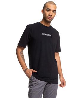BLACK MENS CLOTHING DC SHOES TEES - UDYZT03685-KVJ0