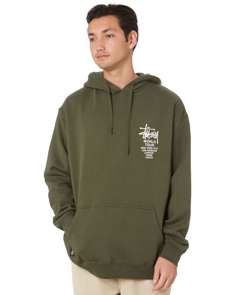 FLIGHT GREEN MENS CLOTHING STUSSY JUMPERS - ST007200FLTGR