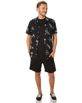 BLACK MENS CLOTHING SWELL SHIRTS - S5173177BLK