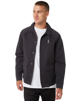 PIRATE BLACK MENS CLOTHING RVCA JACKETS - R393435PRBLK