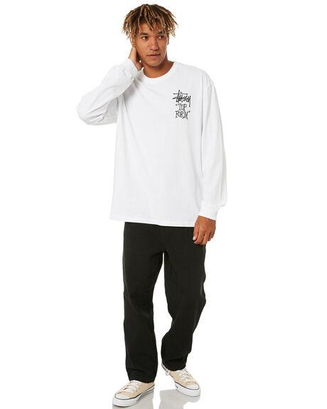 WHITE OUTLET MENS STUSSY TEES - ST006012WHT