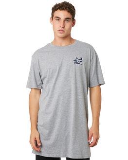 GREY NAVY MENS CLOTHING FEAT TEES - FTTTLOG01GRYNV