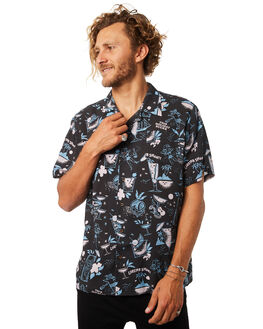 NAVY BLUE PINK MENS CLOTHING THE LOBSTER SHANTY SHIRTS - LBSCOCKTAILSNVYBL