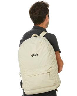 SAND BLACK MENS ACCESSORIES STUSSY BAGS + BACKPACKS - ST705024SBLK
