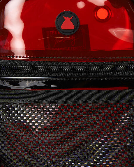 RED AND BLACK MENS ACCESSORIES THE BUMBAG CO BAGS + BACKPACKS - CO057RDBLK