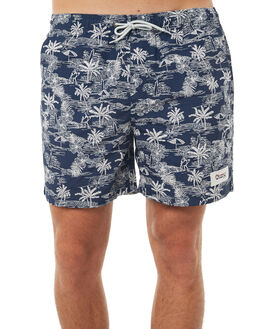 NAVY MENS CLOTHING OKANUI BOARDSHORTS - OKMSS1702-NV