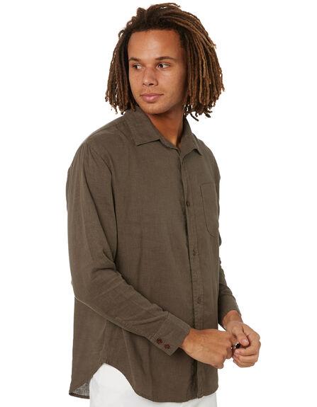 MILITARY GREEN MENS CLOTHING THRILLS SHIRTS - TH20-237FMLGRN