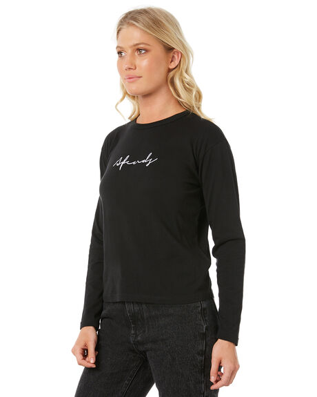 BLACK WOMENS CLOTHING AFENDS TEES - W182064BLK