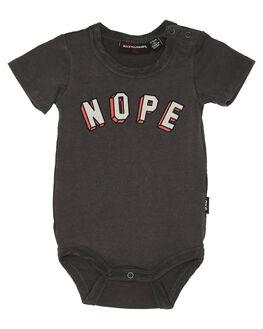 CHARCOAL WASH KIDS BABY ROCK YOUR BABY CLOTHING - BBB1850-NCHARW