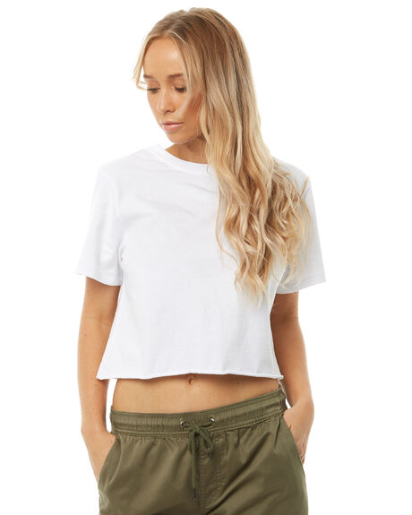 WHITE WOMENS CLOTHING SWELL TEES - S8182003WHITE