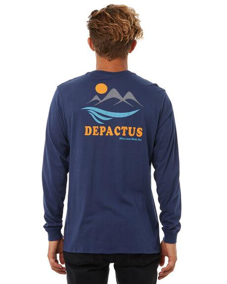 NAVY MENS CLOTHING DEPACTUS TEES - D5183101NAVY