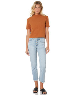 MID BLUE WOMENS CLOTHING THE HIDDEN WAY JEANS - H8182193MIDBL