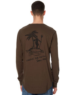 DUSTY OLIVE MENS CLOTHING GLOBE TEES - GB01730021DOL