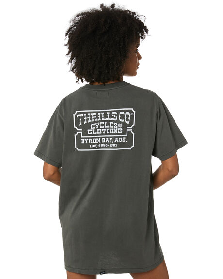 MERCH BLACK WOMENS CLOTHING THRILLS DRESSES - WTR20-900BMMBLK