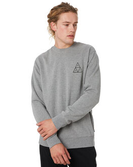 GREY HEATHER MENS CLOTHING HUF JUMPERS - PF00101-GYHTR