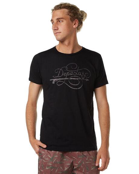 BLACK MENS CLOTHING DEPACTUS TEES - AM080023-BLK