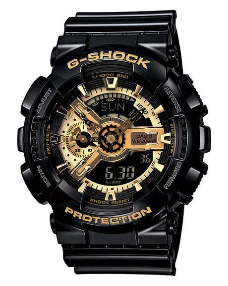 BLACK MENS ACCESSORIES G SHOCK WATCHES - GA110GB-1BLK