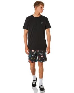 WASHED BLACK MENS CLOTHING GLOBE BOARDSHORTS - GB01918010WBLK