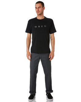 BLACK MENS CLOTHING OBEY TEES - 167291578BLK