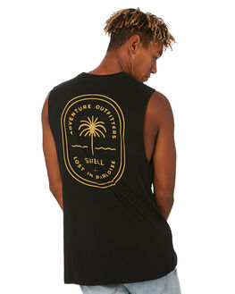 BLACK MENS CLOTHING SWELL SINGLETS - S5203271BLACK