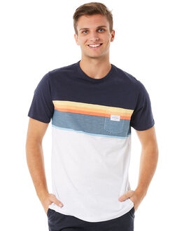 WHITE MENS CLOTHING RIP CURL TEES - CTELV21000