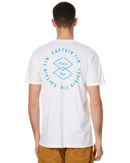 WHITE MENS CLOTHING CAPTAIN FIN CO. TEES - CT172095WHT
