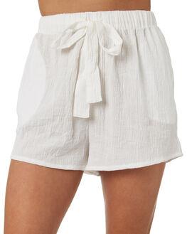WHITE WOMENS CLOTHING RHYTHM SHORTS - OCT18W-WS01WHT