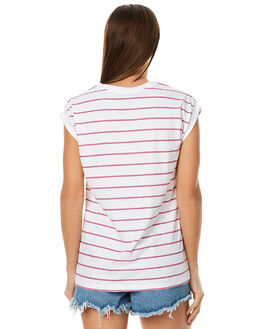 WHITE WOMENS CLOTHING HURLEY TEES - AGTSSAIN10A