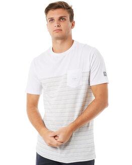 WHITE MENS CLOTHING RIP CURL TEES - CTEMM21000
