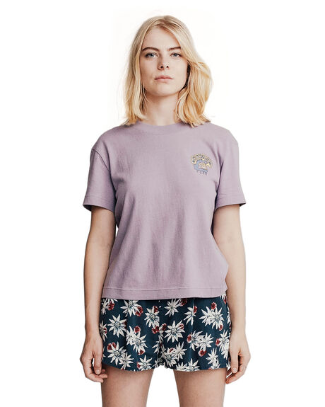 PURPLE ASH WOMENS CLOTHING QUIKSILVER TEES - EQWKT03003-SKW0