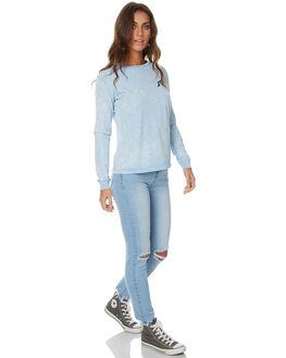LIGHT BLUE WOMENS CLOTHING RUSTY TEES - TTL0884LBL