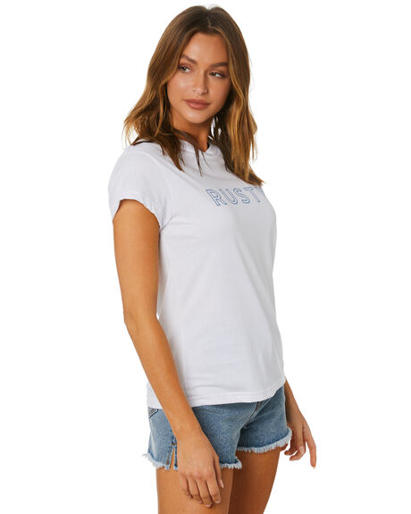 WHITE WOMENS CLOTHING RUSTY TEES - TTL1116-WHT