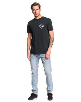 BLACK MENS CLOTHING QUIKSILVER TEES - EQYZT05436-KVJ0