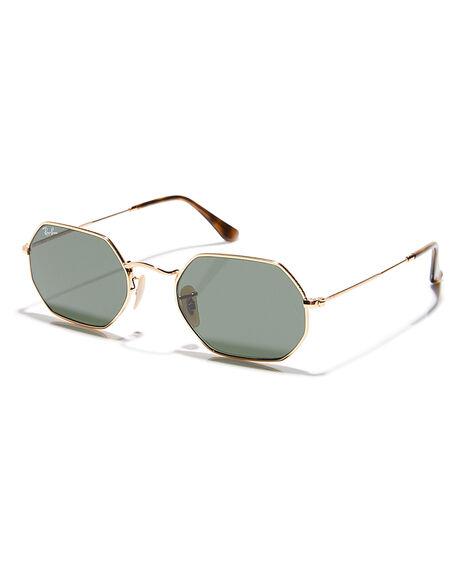 d532c201e Ray-Ban The Octagonal Flat Lens Sunglasses - Gold Green | SurfStitch