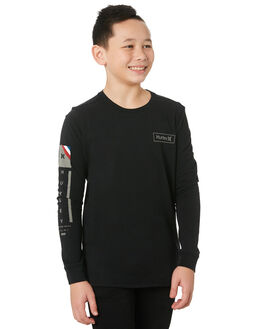 BLACK KIDS BOYS HURLEY TOPS - CI7520010