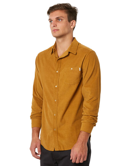 TURMERIC MENS CLOTHING RHYTHM SHIRTS - JUL18M-WT01TUR